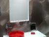 Base SOUKU con lavabo HURACAN Rojo